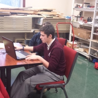 Andrew working on CAD