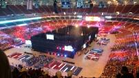 The entire arena