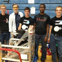 Team picture with the robot