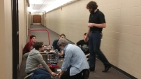 Members of the build team and mentors