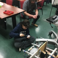 Working on the arms of the robot