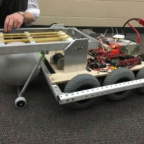 The robot at the end of the build season