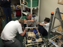 The Build team testing which motor will be best for this year's robot